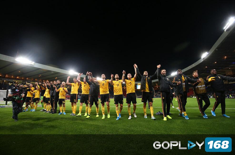 Selebrasi Kemenangan Seluruh Tim Belgium