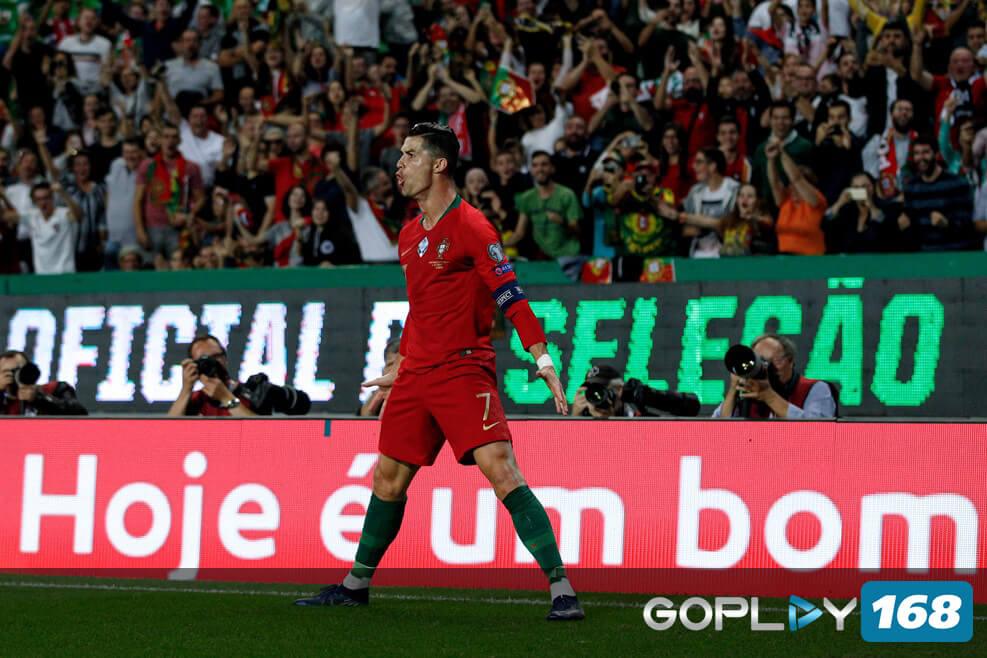 Portugal Vs Luksemburg Cristiano Ronaldo Mencetak Gol